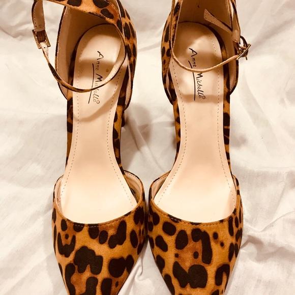 b473292313b Anne Michelle Cheetah Print Heel